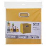 Boîte de rangement jaune