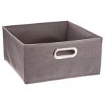 Boîte rangement gris chiné
