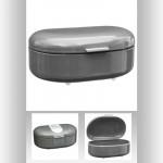 Boîte à pain métal gris