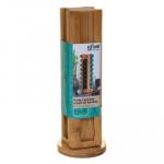Support rotatif en bambou pour 32 capsules de café