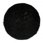 Boule tissu noire