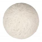 Boule tissu blanc
