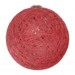 Boule tissu rose tendre