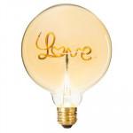 Ampoule Led Décorative Love, 2W, D 12,5 cm