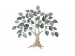 Arbre de vie feuilles bleues – Décoration murale en métal