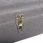 Banc coffre valise gris