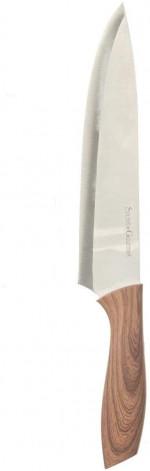 Bloc aimanté noir avec 5 couteaux de cuisine