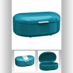 Boîte à pain métal turquoise - 40 x 25 x 16,3 cm