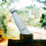 Bouteille isotherme BLANCHE à double paroi, 750 ml, Gourde en acier inoxydable - Garde Froid 8h ou Chaud 12h - Sans BPA