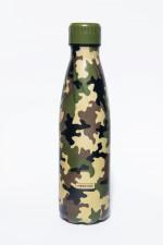 Bouteille isotherme CAMMO à double paroi, 500 ml, Gourde en acier inoxydable - Garde Froid 8h ou Chaud 12h - Sans BPA