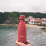 Bouteille isotherme corail à double paroi, 350 ml, Gourde en acier inoxydable - Garde Froid 8h ou Chaud 12h - Sans BPA