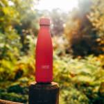 Bouteille isotherme corail à double paroi, 500 ml, Gourde en acier inoxydable - Garde Froid 8h ou Chaud 12h - Sans BPA