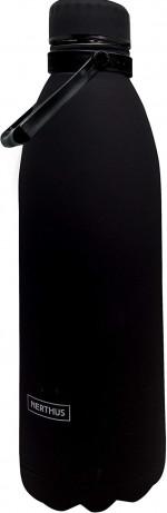 Bouteille isotherme noire à double paroi 1500 ml, Gourde en acier inoxydable - Garde Froid 8h ou Chaud 12h - Sans BPA
