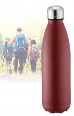 Bouteille isotherme rouge à double paroi 750 ml, Gourde en acier inoxydable - Garde Froid 8h ou Chaud 12h - Sans BPA