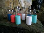 Bouteille - gourde en verre 600 ml - Turquoise