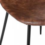 Chaise effet cuir marron