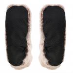 Chaussons chauffants en fourrure