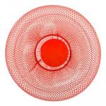 Corbeille à fruits métal rouge 27 cm