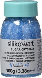 Cristaux de sucre, Bleu, 100g, Décoration gâteaux - Silikomart