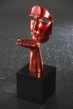 Statue visage speranza rouge