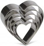 Emporte-pièces inox cœur 5 pcs