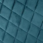 Fauteuil Dîner en velours Bleu canard, pieds en métal noir
