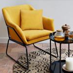 Fauteuil Design moutarde