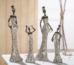 Femme africaine – Statue décorative – H 30 cm