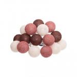 Guirlande LED, Piles, 16 mini boules D 3,5 cm, Land