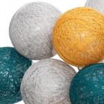 Guirlande LED, Piles, 16 mini boules D 3,5 cm, City