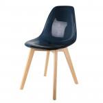 Chaise scandinave transparente noire