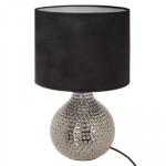 Lampe goutte argent, céramique H38 cm
