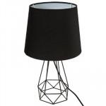 Lampe en métal filaire noir, H35
