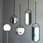 Lot de 2 miroirs ovales suspendus