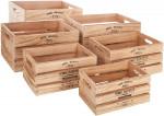 Lot de 6 Caisses cagettes en bois