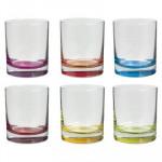 Lot de 6 verres bas « colori » - 9 cm