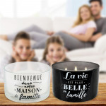 Bougie famille blanche