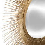 Miroir Soleil en métal doré D58