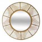 Miroir en bambou D89 cm