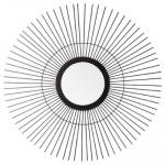 Miroir soleil en métal noir  D 59 cm