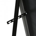 Miroir sur pied noir 37x157 cm