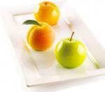 Moule Silicone 3D – Pomme, Cerise et Pêche, 6 x Diam 6,2 cm - Silikomart