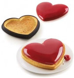 Moule Silicone 3D – Tarte mon Amour - Silikomart