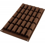 Moule chocolat Mini Bûche, Silicone, Silikomart