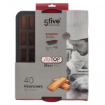 Moule silicone Maxi « Silitop », Rigide, 40 Financiers