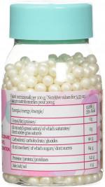 Perles de sucres blanches, 60g, Décoration gâteaux - Silikomart