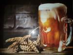 Planche à découper en verre trempé 4mm, 40x30 cm, Décor bière