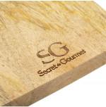 Planche à découper rectangle en manguier, 52 x 16 cm