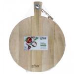Planche à découper ronde en manguier, diam 36 cm