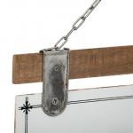 Plaque bois et métal, Citation, 35 x 25